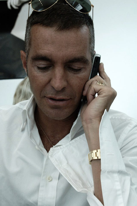 Dean of Dsquared2 on the phone