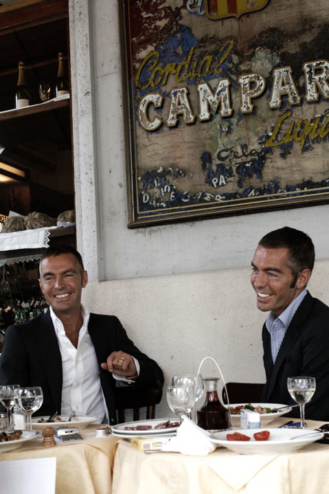 Dsquared2 eating in Milan