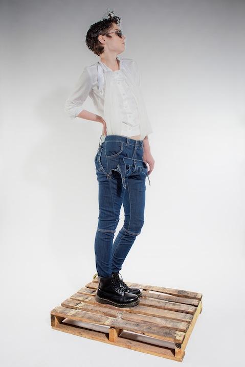 Michiko Koshino blue jeans