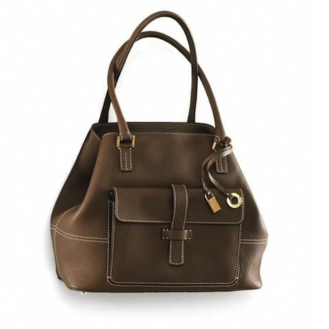 Loro Piana leather brown bag